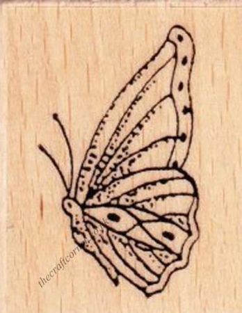Small Butterfly Wood Mounted Rubber Stamp by Creative Expressions